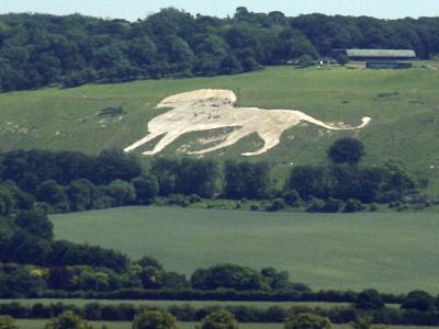 U K  Dunstable  Whipsnade  Zoo Hill Figure