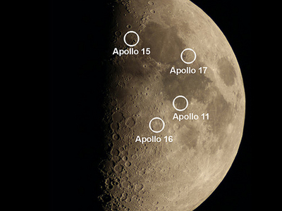ULO Image Of The Moon With Apollo Landing Sites