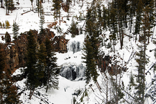 Undine Falls View During Winter
