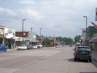 Union Street In Downtown Mora