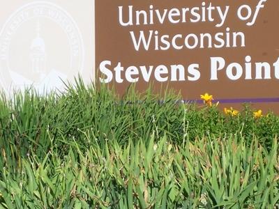University Wisconsin Stevens Point Sign