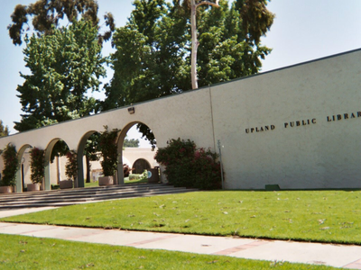 Upland City Hall Left And Upland Public Library Right