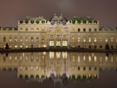 Night View Of The Upper Belvedere