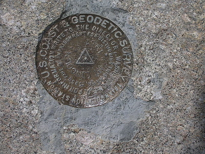 USGS Marker At The Summit