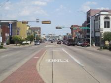 U.S. Highway 80 Is The Main Street Of Terrell, Texas.