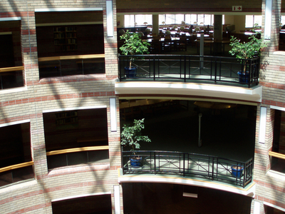 Circular Inside Of The Main Library