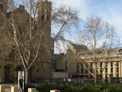 Bonython Hall (left) & The Ligertwood Building