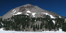 Vulcan's Eye On Lassen Peak From Lake Helen