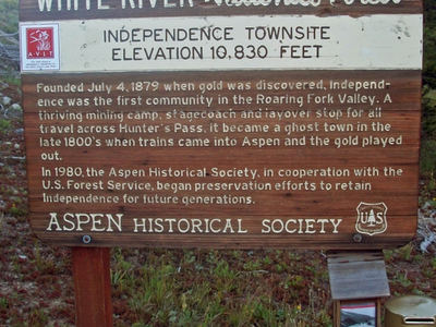 U.S. Forest Service Plaque At Site
