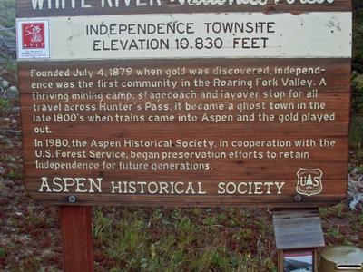 U.S. Forest Service Plaque At Site