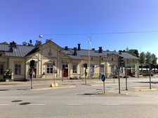 Vaasa Railway Station In Finland