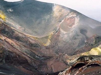 A Lateral Crater Of Mount Etna
