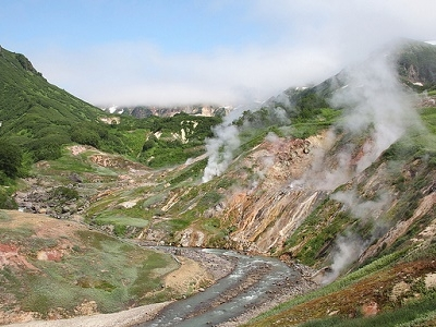 Valley Of Geysers Landscape - Kamchatka