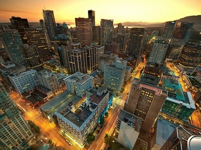 Vancouver Downtown At Sunset - British Columbia