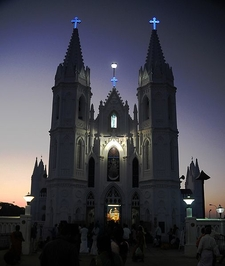 Veilankanni Basilica At Dusk