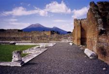 Mount Vesuvius Seen From Pompeii