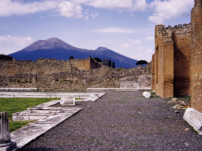 Mount Vesuvius Seen From Pompeii