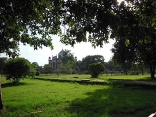 View Across Garden Towards Marble Mausoleum