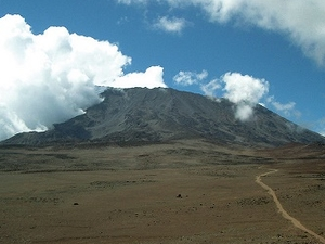View Across The Saddle To Kibo Peak