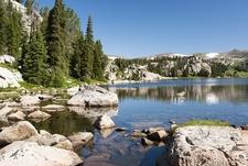 View Alpine Lake Along Beartooth Highway - WY