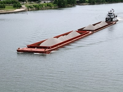 View Barge On Ohio River - OH