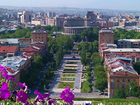 View Of Yerevan From The Cascade