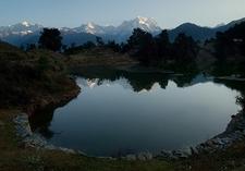 View Chaukhamba Over Deoria Tal UT Himalayas