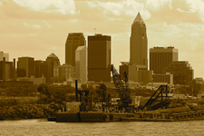 View Cleveland Skyline From Lakefront State Park
