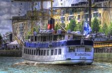 View Cruise Boat In Turku - Aura River Finland