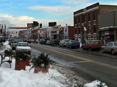 View Down 9mile In Downtown Ferndale