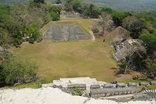 View Down From Xunantunich El Castillo