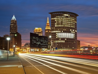 View Downtown Cleveland In Ohio