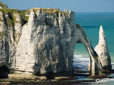 View Etretat Aval Cliffs - Normandie - France