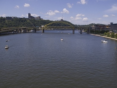 View Fort Duquesne Bridge& Roberto Clemente Bridge In Pittsburgh PA