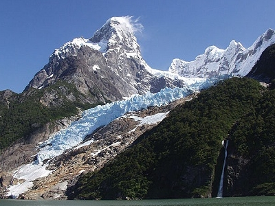 View Glacier Balmaceda In Patagonia Chile