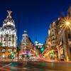 View Gran Via Street In Madrid - Spain