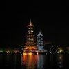 View Guilin Pagodas At Night