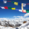 View Himalayas Beyond Prayer Flags - Nepal