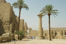 View Inside Karnak Temple