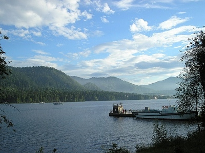 View Lake Teletskoye