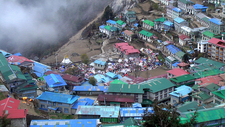 View Namche Bazaar In Nepal Everest Region