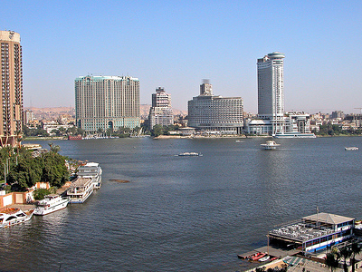 View Nile River At Cairo Egypt