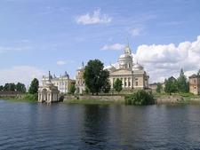 View Nilov Monastery On Stolobny Island