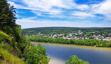 View Northumberland Over Susquehanna River