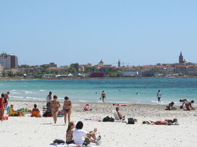 Alghero From Lidos Beach.