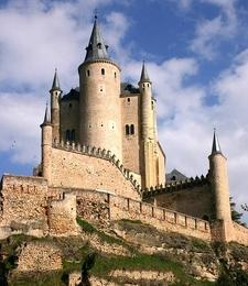 View Of Alcazar In Segovia Spain