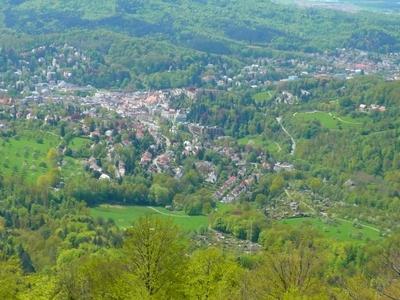 View Of Baden Baden From Mount Merkur.