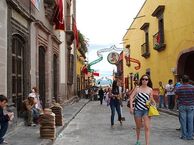 View Of Calle Umaran In The Historic Center