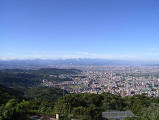 View Of City From Mountain