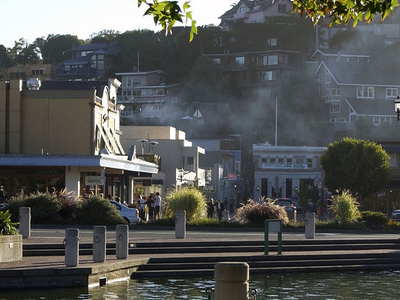 View Of Downtown Tiburon Near The Ferry Docks.